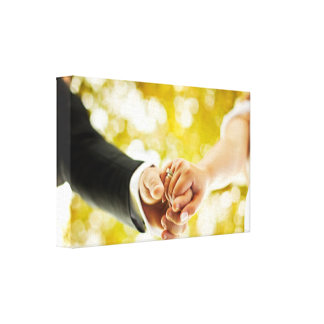 Media Type Weddin: Premium Wrapped Canvas (Gloss) Gallery Wrapped Canvas