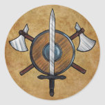 Mediaeval Arms Round Stickers