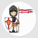 Mediaeval Crusader Knight Sticker