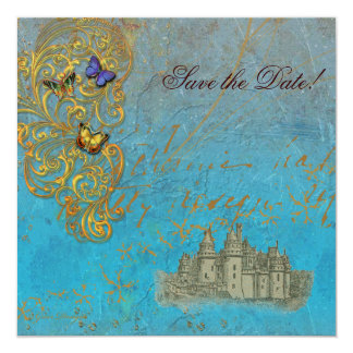 Mediaeval Fairy Tale Castle 13 Cm X 13 Cm Square Invitation Card
