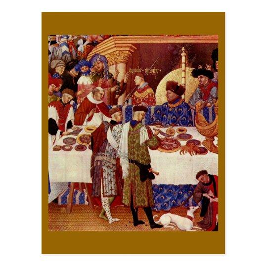 Mediaeval feast postcard
