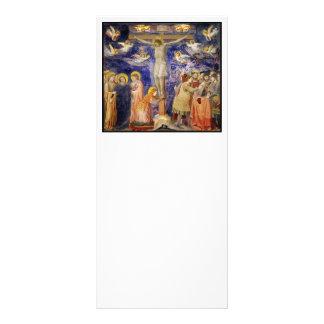 Mediaeval Good Friday Scene 10 Cm X 23 Cm Rack Card