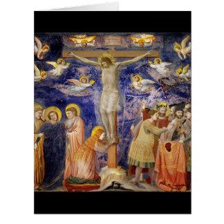 Mediaeval Good Friday Scene Card