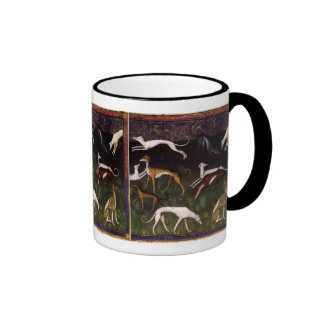 Mediaeval Greyhounds Fine Art Mugs