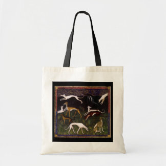 Mediaeval Greyhounds in the Deep Woods Tote Bag