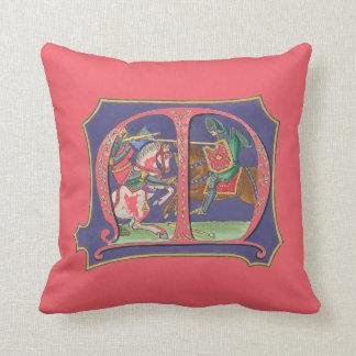 Mediaeval Joust Throw Pillow