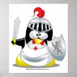 Mediaeval Knight Penguin Print