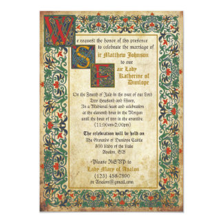Mediaeval Manuscript Wedding Invitation Card