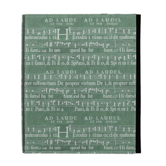 Mediaeval Music Manuscript iPad Case
