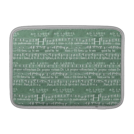 "Mediaeval Music Manuscript Macbook Air 11"" Sleeve"