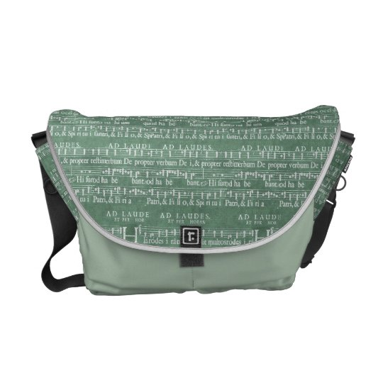 Mediaeval Music Manuscript Medium Messenger Bag