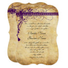 Mediaeval Renaissance Purple Faux Parchment Card