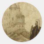 Mediaeval Round Sticker