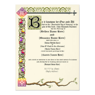 Mediaeval Scroll Wedding Invitation