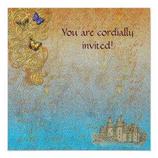 Mediaeval Storybook Castle Royal Invitation Card