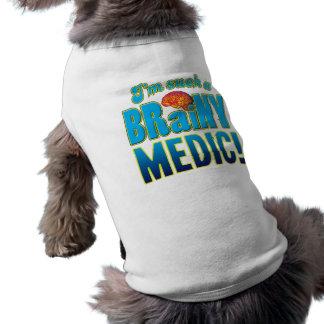 Medic Brainy Brain Dog T Shirt