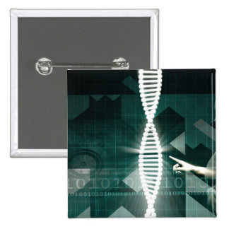 Medical Abstract Background of a Futuristic Scienc 15 Cm Square Badge