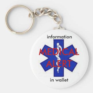Medical Alert Info Keychain