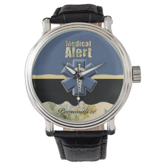 Medical Alert Personalized Wrist Watch