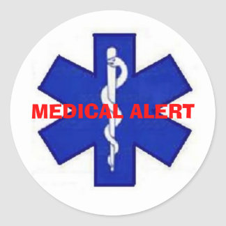 MEDICAL ALERT STICKER