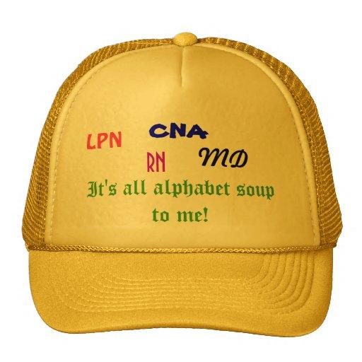 Medical Alphabet Soup hat