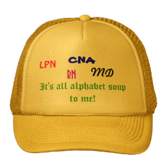 Medical Alphabet Soup hat