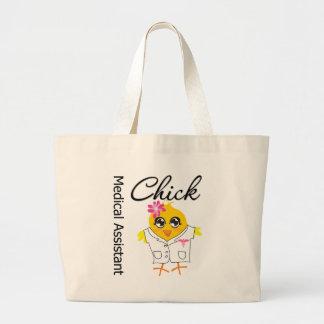 Medical Assistant Chick v2 Jumbo Tote Bag