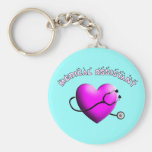 Medical Assistant PINK HEART Design Gifts Key Chain
