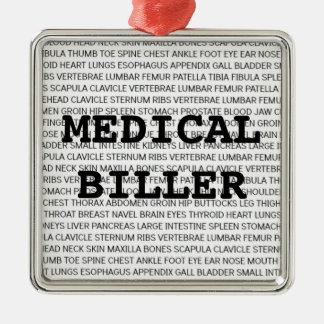 Medical Biller Medical Terminology Christmas Metal Ornament