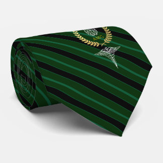 Medical Brain Personalized Green Tie