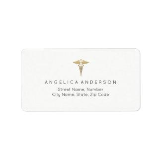 Medical Caduceus Symbol Address Label
