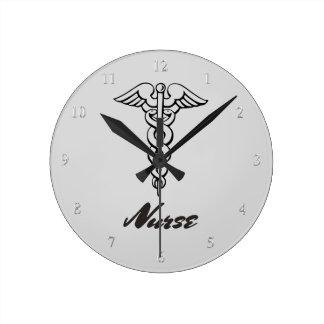 Medical Caduceus Symbol   Nurses Nursing RN LPN Wall Clocks