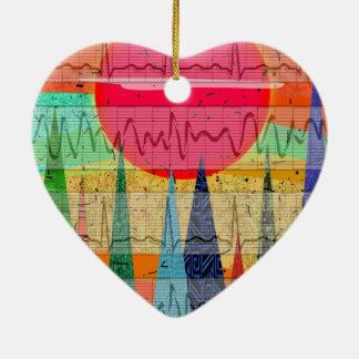 Medical Cardiac Rhythm Forest Dreams Ceramic Ornament