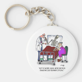 Medical Cartoon 9378 Basic Round Button Key Ring