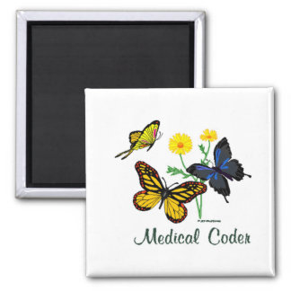Medical Coder Butterflies Magnet