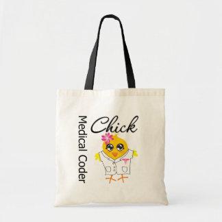 Medical Coder Chick Budget Tote Bag