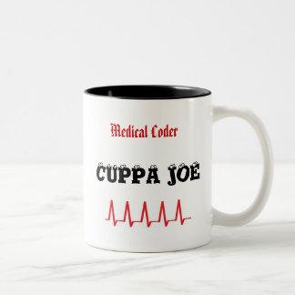 Medical Coder Cuppa Joe Two-Tone Coffee Mug