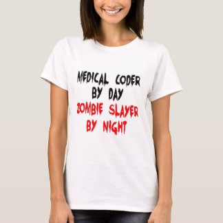 Medical Coder Zombie Slayer T-Shirt