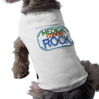 Medical Coders Rock Doggie Tee Shirt