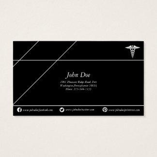 Medical copper snake logo black/white business card