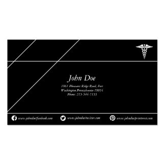 Medical copper snake logo black/white pack of standard business cards