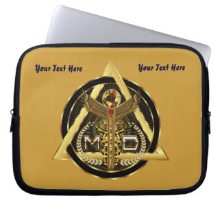 Medical Doctor Device Carry Case VIEW ABOUT design Laptop Computer Sleeves