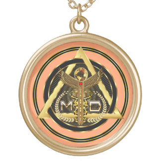 Medical Doctor Logo Round Only VIEW ABOUT Design Pendant