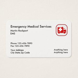 Medical Emergency EMS Ambulance Business Card