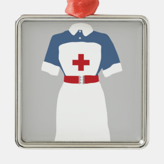 Medical & Emergency Nursing Services Silver-Colored Square Decoration