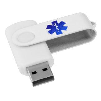 Medical EMS Symbol Swivel USB 2.0 Flash Drive