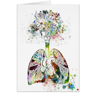 Medical Gifts Heart and Lungs Motif Card