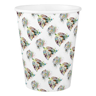 Medical Gifts Heart and Lungs Motif Paper Cup