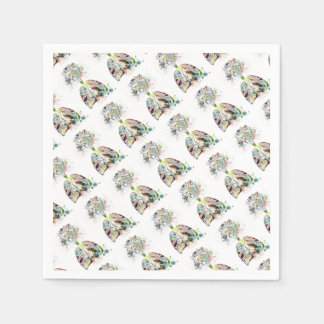 Medical Gifts Heart and Lungs Motif Paper Napkin