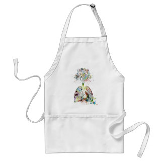 Medical Gifts Heart and Lungs Motif Standard Apron